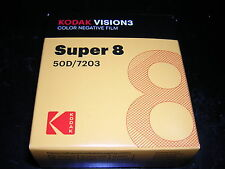Kodak Vision 3 50D Super 8mm Color Negative Film 50D/7203 Roll Fresh stock NIB