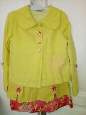 Superbe ensemble jupe et veste brodés taille 8 ans de la marque Clayeux en ttbe