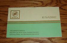 Original 1983 Buick LeSabre Owners Operators Manual 83