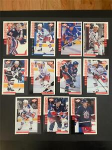 1997/98 Score New York Rangers Team Set 11 Cards