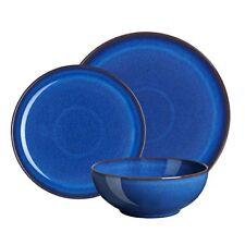 F470927f Denby Service de table en Céramique 12 Pièces Bleu