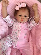 """1 º los niños Reborn muñeca de la niña Naomi Newborn tamaño 22"""" arraigada pelo del bebé Reino Unido"""