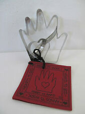 Vintage Heart And Hand Cookie Cutter w/ Recipe Book 2 Piece Cutters Never Used