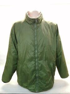 British Army Softy Jacket Reversible Coat Olive Sand Thermal Fishing Warm Medium