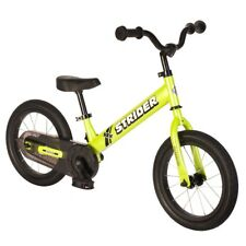 STRIDER 14x Sport 2 in 1 GREEN Balance Bike w Pedal Kit Learn To Ride