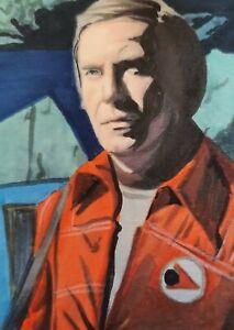 Original Space 1999 John Koenig as Martin Landau aceo sketch card drawing
