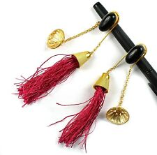 New Fashion Synthetic Stone Bohemian Vintage Long Tassel Dangle Hanging Earring