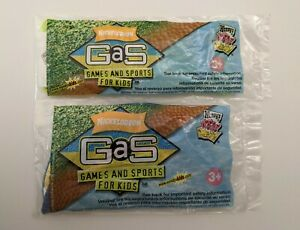 Nickelodeon Games And Sports (GaS) 2004 WENDY'S  KID'S MEAL TOYS Lot Of 2