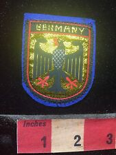 Woven Label From Blue Felt Back Coat Of Arms Imperial Eagle Germany Patch 76P8