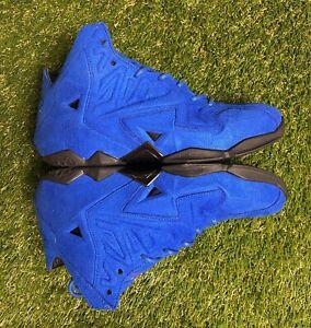 Nike Lebron XI EXT Sued QS Sneaker Shoes Size 8.5 Royal Blue 656274 440 #77