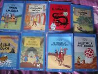 GRAN LOTE  COLECCIÓN COMPLETA DE  TINTIN 25 DVD EN CAJA CARTON (NUEVOS)