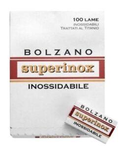 100 Bolzano Superinox Inossidabile double edge razor blades