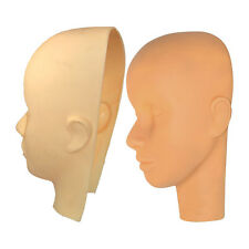 Cosmetology 2 Pcs Make-Up Practice Face Mannequin Head and Facial Mask Set