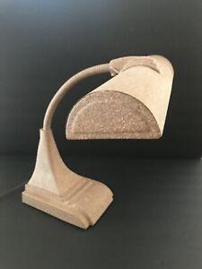 Vtg Mid Century Industrial Drafting Desk Gooseneck Lamp Sandblast ART SPECIALTY