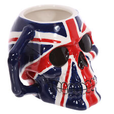"""Skull Design Union Jack Pattern Mug""  A Themed Mug Great B'Day Gift Comes Boxed"