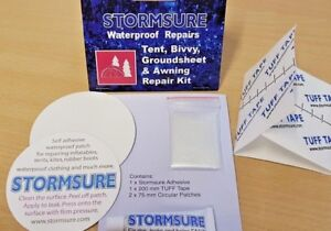 STORMSURE Tent and Groundsheet Repair Kit  - Bivvy Repair, Tent Repair Kit