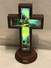"""Bradford Exchange Thomas Kinkade Light Of Faith """"Hope"""" Illuminated Cross 9"""""""