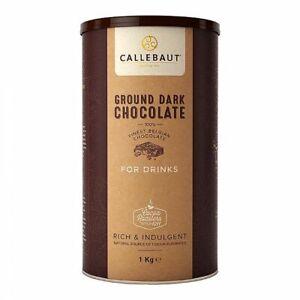 Callebaut Finest Ground Belgian Dark Hot Chocolate Powder For Drinks - 1KG
