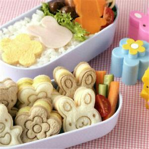 3X Sandwich Crust Cutter Cookie Bread Cake Toast Mold Flower Bear Shape W5V2
