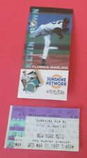 Kevin Brown Florida Marlins vs NY Mets Baseball MLB Pin & Ticket Stub New