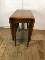Vintage Mid Century Teak Drop Leaf Extending Dining Table