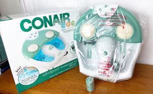 Conair Whirlpool Massaging Foot Spa-Bubbles Heat Massage New! Never Used