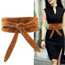 Women Velvet Obi Sash Corset Waistband Wide Wrap Around Dress Bowknot Waist Belt