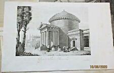 """incisione XIX secolo Cm. 27 x 19 su foglio 42 x 26 """"CAMPO SANTO DI BRESCIA"""""""