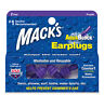 Mack's AquaBlock Earplugs 2 Pair Comfortable Waterproof Ear Plugs Swim Showering