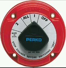 Perko 8503DP Battery Switch For Two Batteries With Alternator Field Protection