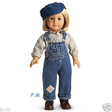 """AMERICAN GIRL KIT OVERALL HOBO OUTFIT NIB FITS 18"""" DOLL RUTHIE LEA MOLLY JULIE"""