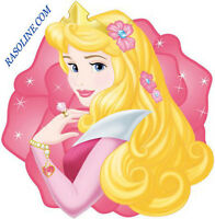 Tappeto-Scendiletto Rosa Princess Aurora 67x67cm Principesse Disney Antiscivolo