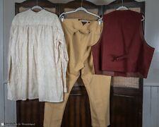 Frontier Classics Men's Western Outfit Shirt Pants Vest Rust Tan 3Xl