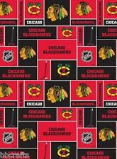CHICAGO BLACKHAWKS NHL HOCKEY 100% COTTON FABRIC MATERIAL PATCHWORK BY 1/2 YARD