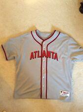 AUTHENTIC Salute the Negro Leagues 2016 Eddie Perez Atlanta BravesJersey size 54