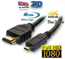 """TESCO HUDL 7"""" MICRO HDMI TO HDMI CABLE TO CONNECT TO TV HDTV 3D 4K 1080P"""