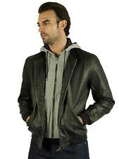 Men's Double Zipper Jacket ~ Black