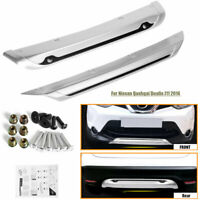 Front & Rear ABS Bumper Board Guard Protector For Nissan Qashqai Dualis J11 2014
