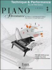 Piano Adventures Level 3 Technique & Performance Sheet Music Book All In Two