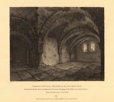 TOOLEY STREET, SOUTHWARK. Oratory of Inn of Priors of Lewes, Sussex 1834 print