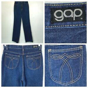 Vintage 1970s 1980s Gap Mom Jeans size 4? 28x36 High Waist Unhemmed Tall P6