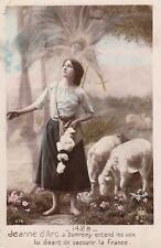 Carte postale ancienne JEANNE D'ARC entend les voix DOMREMY 1428