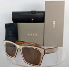 593a7757e85 Brand New Authentic Dita Sunglasses INSIDER TWO DRX 2090 B T Gold Brown  Frame