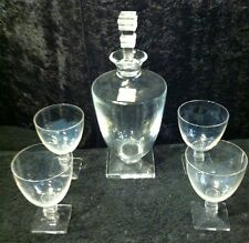 Lalique Argos Decanter With Four Argos Glasses