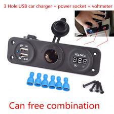 12V 24V Car Cigarette Lighter Socket Splitter Dual USB 2.1A/1A Charger Adapter