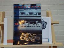 1992 Bugatti EB110 EB110 GT EB112 VIP brochure