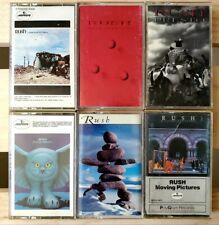 RUSH - 6 Cassette LOT - Night / Farewell / Pictures / Echo / Fire / Presto