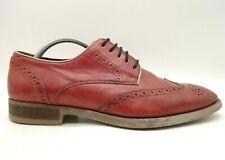 Johnston Murphy 1850 J&M Red Leather Wingtip Lace Up Oxfords Shoes Men's 10 M