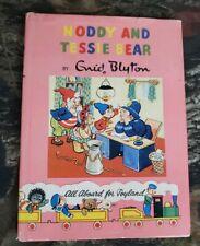 Vtg 1st Edition Noddy Book #12 Noddy And Tessie Bear Enid Blyton HCDJ Beek B30