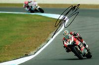 Chaz DAVIES SIGNED Autograph 12x8 2015 Season Ducati Aruba.it Photo  AFTAL COA